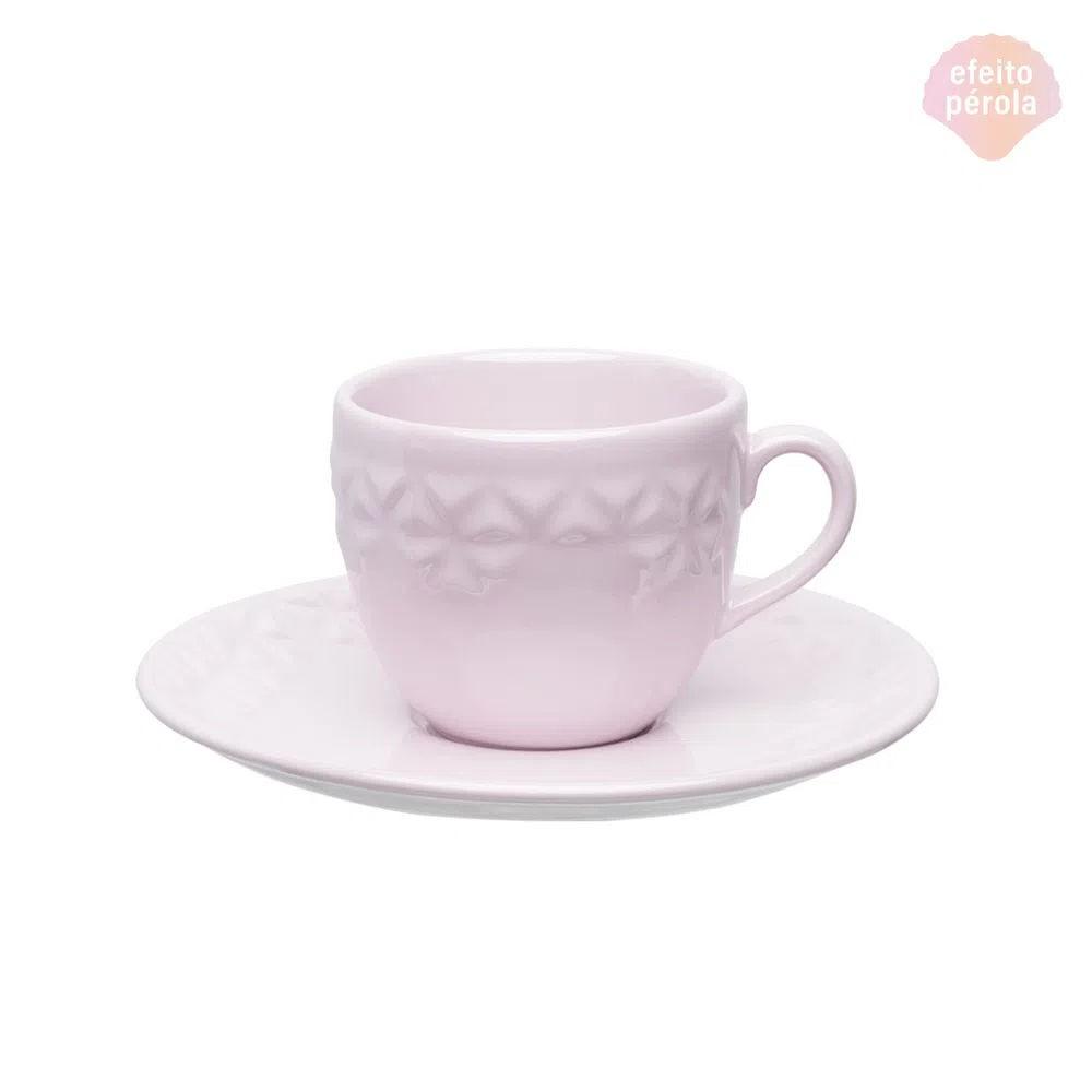 Xícara de Chá com Pires 200ml Mia Quartzo