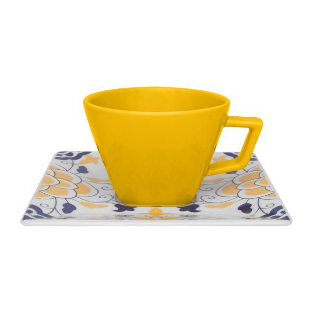 Xícara de Chá com Pires 200ml Quartier Sevilha