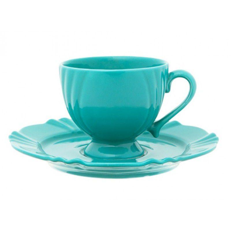 Xícara de Chá com Pires 200ml Soleil Dreams