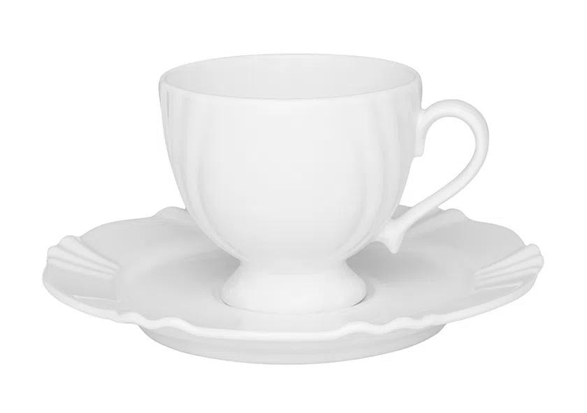Xícara de Chá com Pires 200ml Soleil White