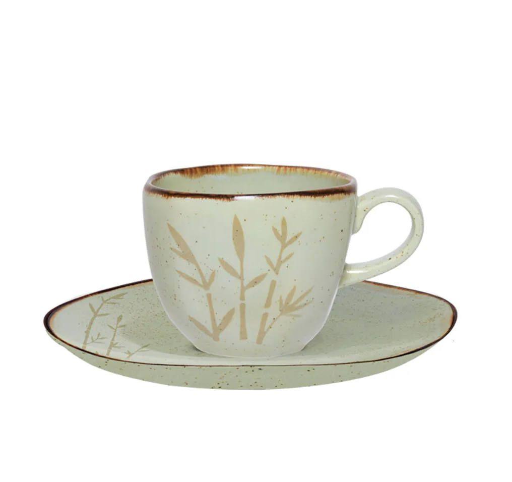 Xicara de Chá Com Pires 200ml Ryo Bambu