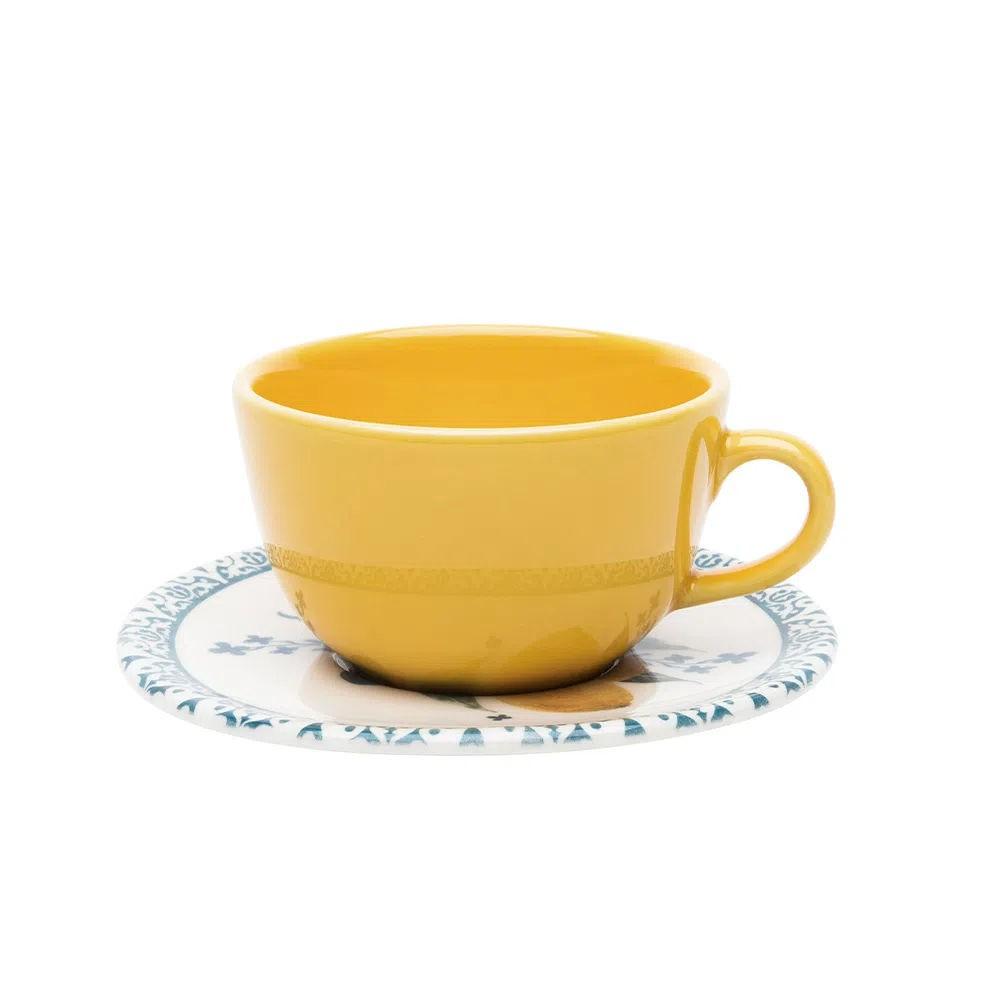 Xícara de Chá com Pires 220ml Limão Siciliano