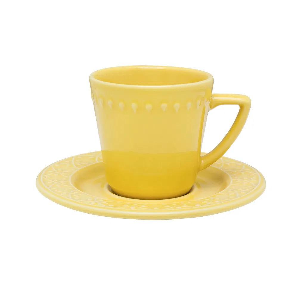 Xícara de Chá com Pires 220ml Mendi Sicília