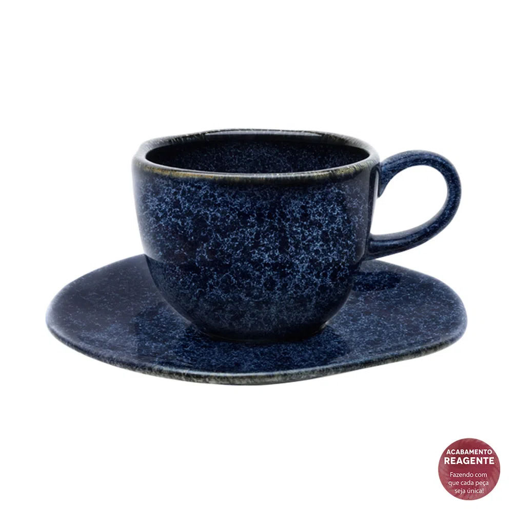 Xícara de Chá com Pires 220ml Safira
