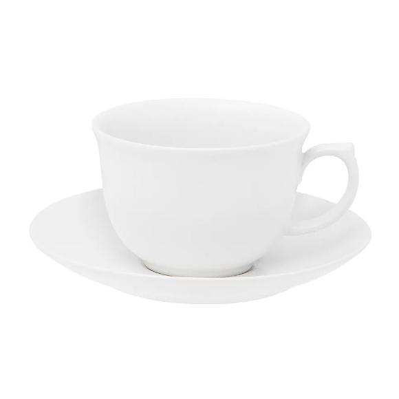 Xícara de Chá com Pires 240ml Flamingo White