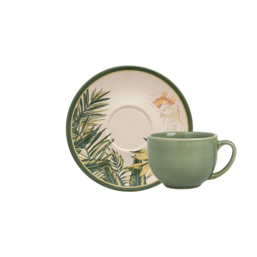 Xícara de Chá com Pires Aquarelle Animalia
