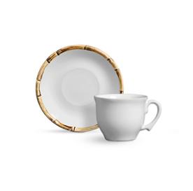 Xícara de Chá com Pires Bambu