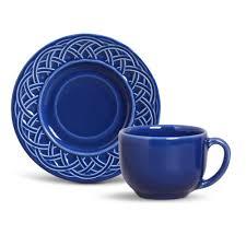Xícara de Chá com Pires Cestino Azul Navy