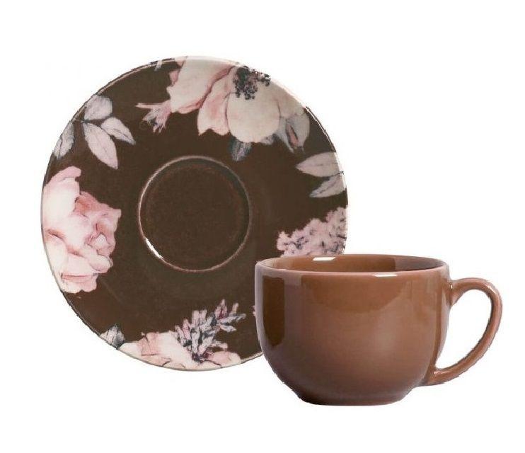 Xícara de Chá com Pires Coup Bonjour