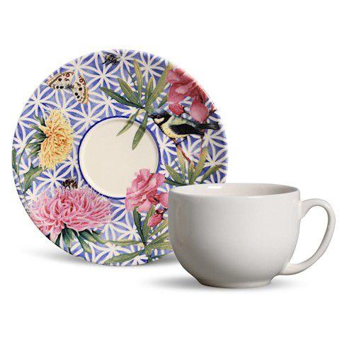 Xícara de Chá com Pires Coup Garden