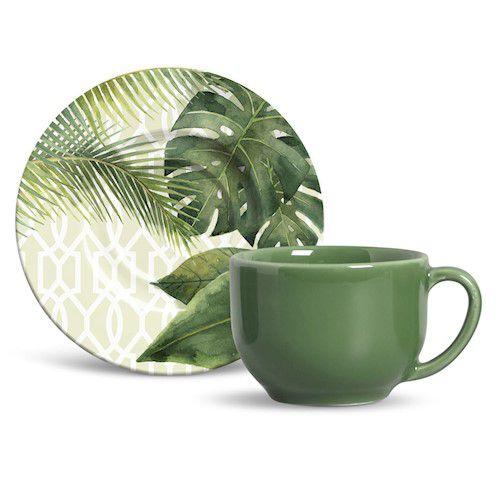 Xícara de Chá com Pires  Monaco Travattura