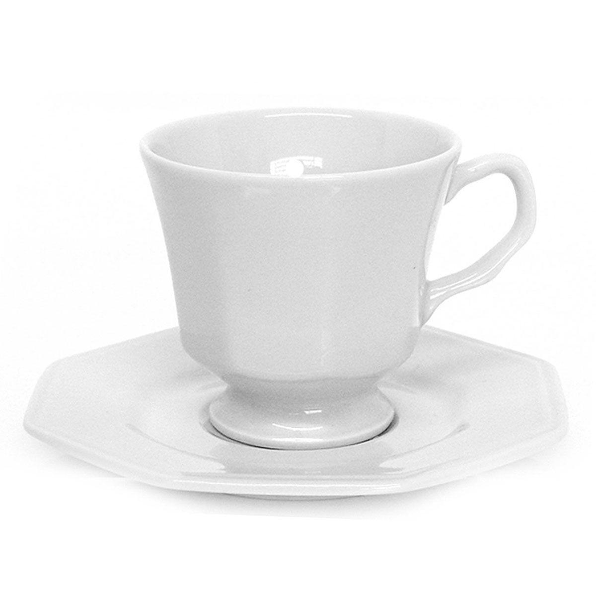 Xícara de Chá com Pires Porcelana 200ml Prisma