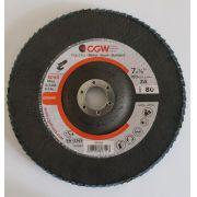 Disco de Flap CGW 7'' x 7/8''  180 Grão