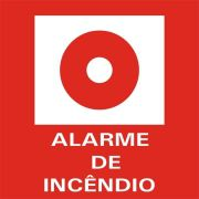 Placa 13,5X20 Foto Luminescente Alarme Incendio