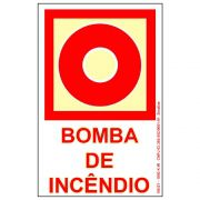 Placa 13,5X20 Foto Luminescente Bomba Incendio