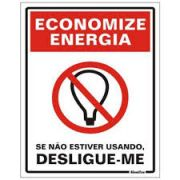 Placa 15x20 Economize Energia