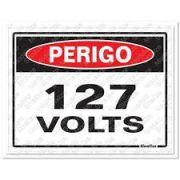 Placa 15x20 Perigo 127v