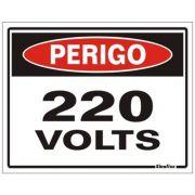 Placa 15x20 Perigo 220v