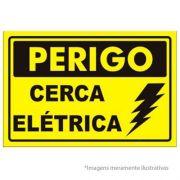 Placa 15x20 Perigo Cerca Eletrica