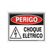 Placa 15x20 Perigo  Risco de Choque Eletrico