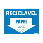 Placa 15x20 Reciclavel Papel