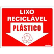 Placa 15x20 Reciclavel Plastico