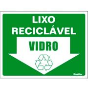 Placa 15x20 Reciclavel Vidro