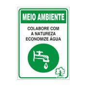Placa 20x30 Economize Agua