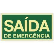 Placa 20x30 Fotoluminescente Saida de Emergencia