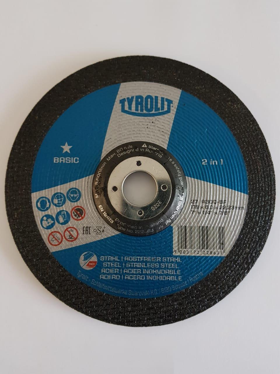 Disco de Desbaste Basic 2 em 1 7' x 1/4'' x 7x8''
