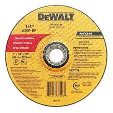 """Disco de Desbaste Dewalt  7""""X1/4""""X7/8"""