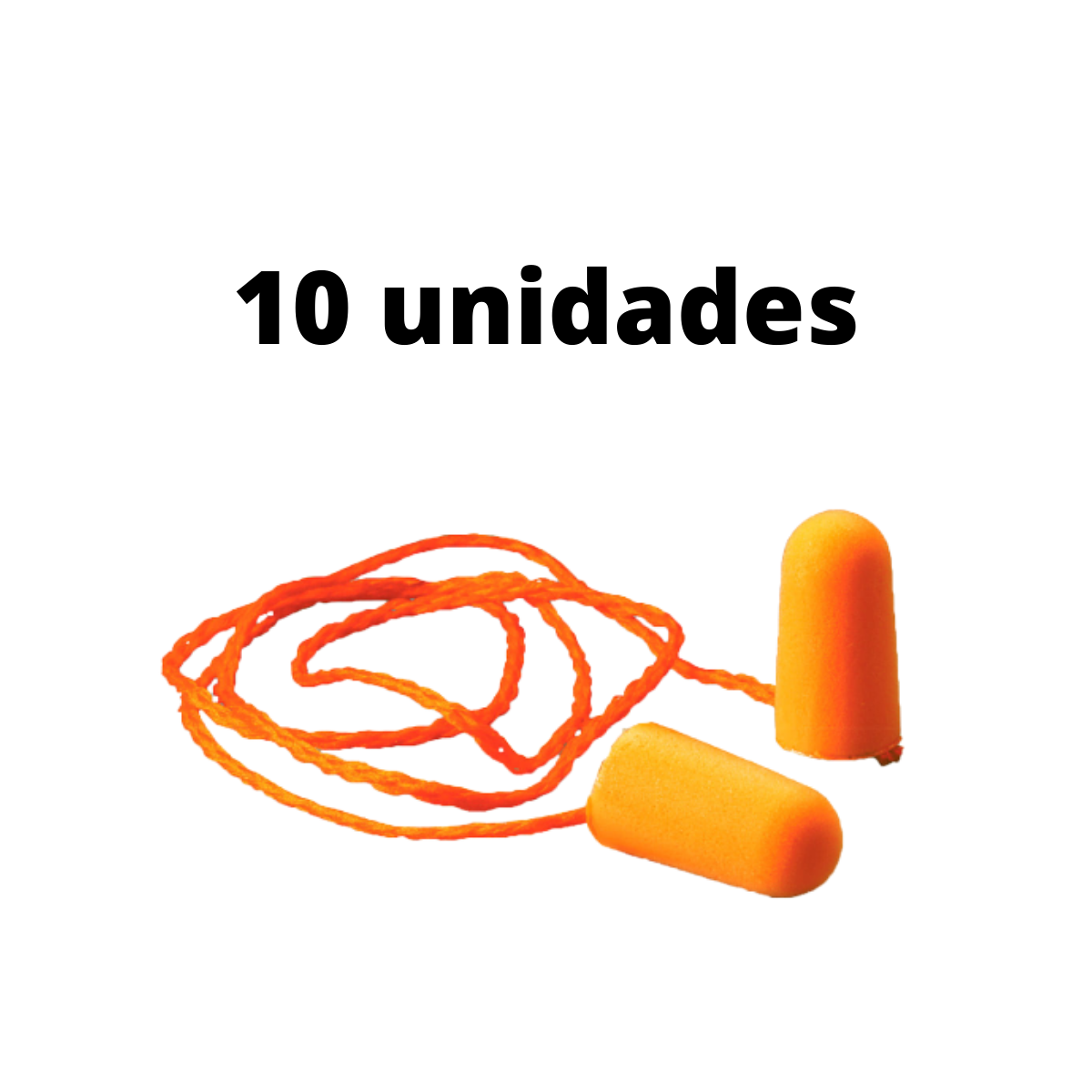 10 Unid. Protetor Auricular Tipo Espuma 3M