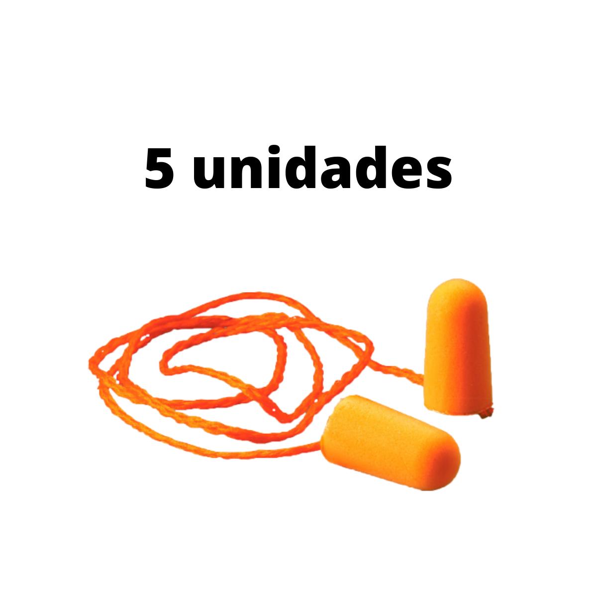 5 Unid. Protetor Auricular Tipo Espuma 3M