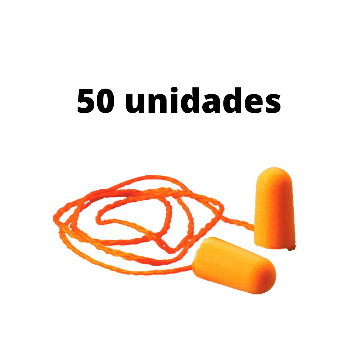 50 Unid. Protetor Auricular Tipo Espuma 3M