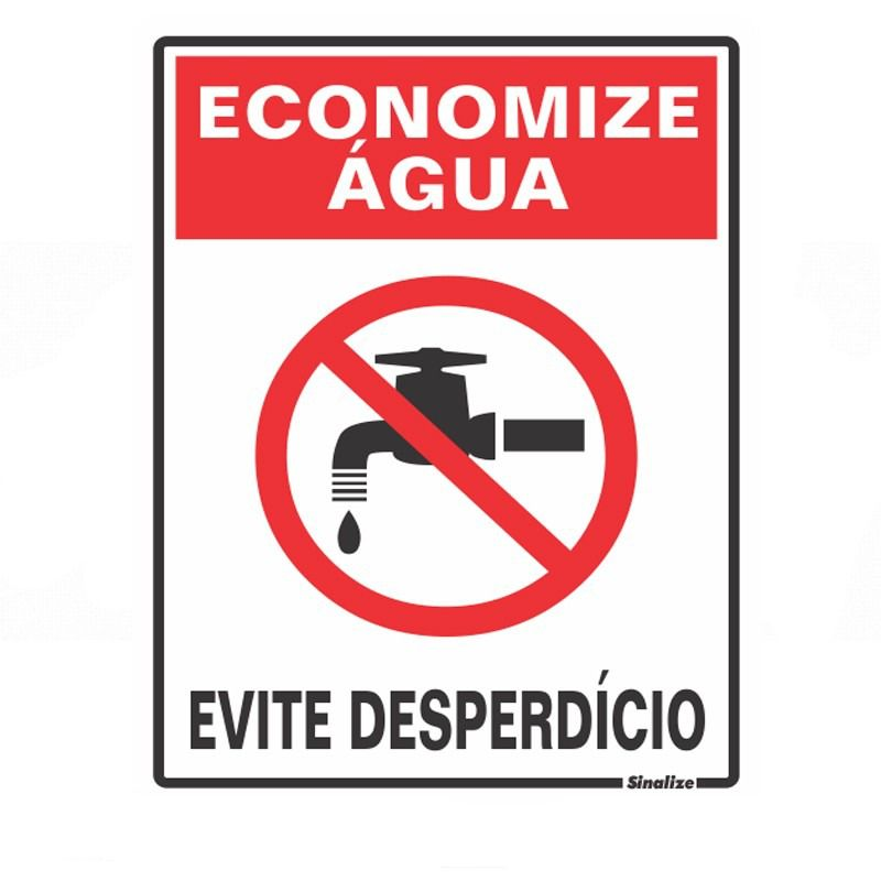 Placa 15x20 Economize Agua