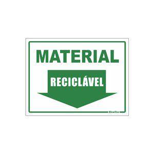 Placa 15x20 Material Reciclavel