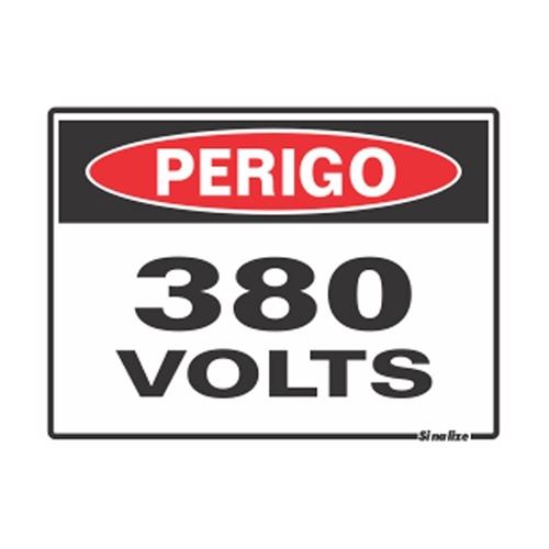 Placa 15x20 Perigo 380v