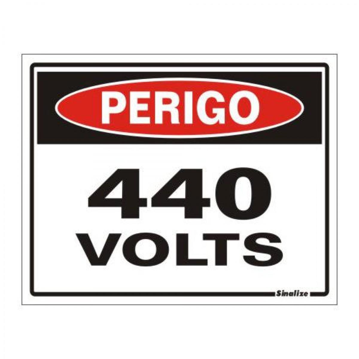 Placa 15x20 Perigo 440v