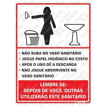 Placa 15x20 Procedimento Sanitario Feminino