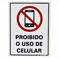 Placa 15x20 Proibido  O Uso de Celular
