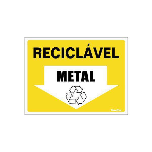 Placa 15x20 Reciclavel Metal