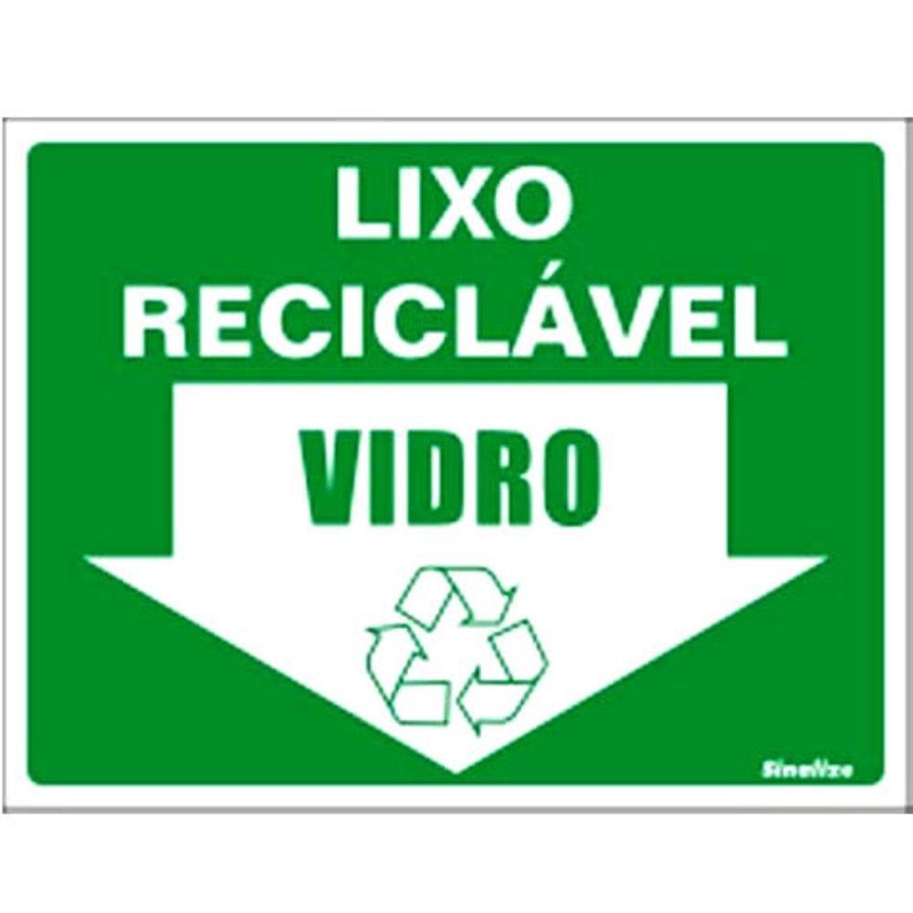 Placa 15x20 Reciclavel Vidro
