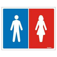 Placa 15x20 Sanitario Masculino/Feminino