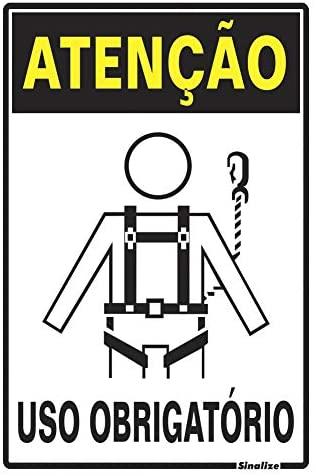 Placa 20x30 Atenção Obrigatorio Uso de Cinto de Segurança