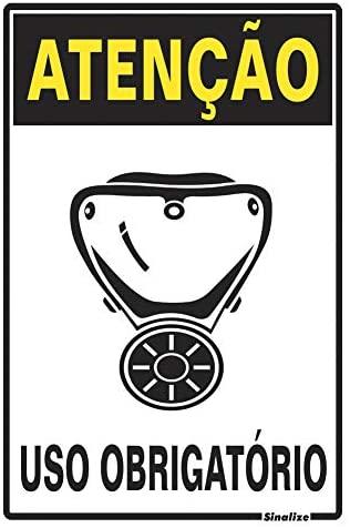 Placa 20x30 Atenção Obrigatorio Uso de Mascara