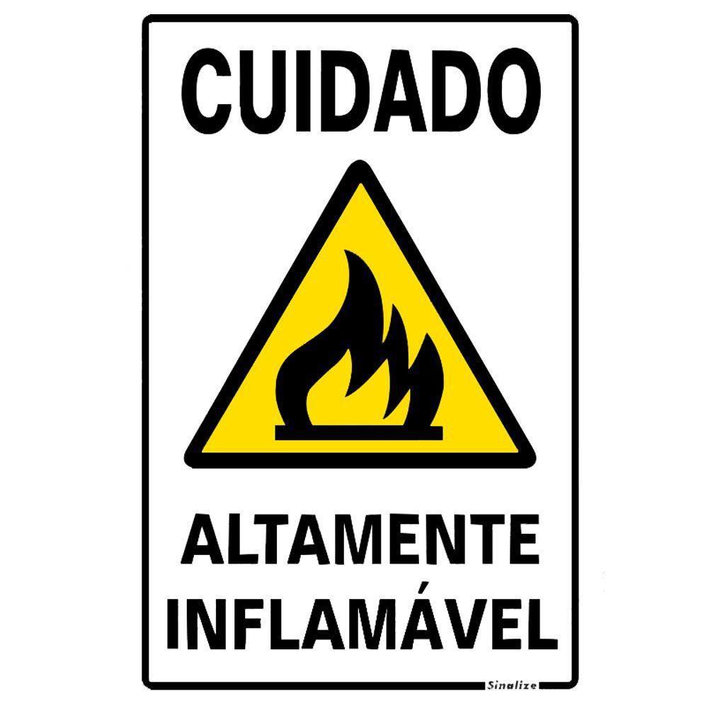 Placa 20x30 Cuidado Altamente Inflamavel
