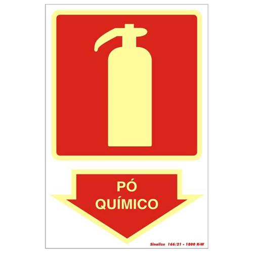 Placa 20x30 Fotoluminescente Extintor Po Quimico