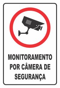 Placa 20x30 Monitoramento para Camera de Segurança