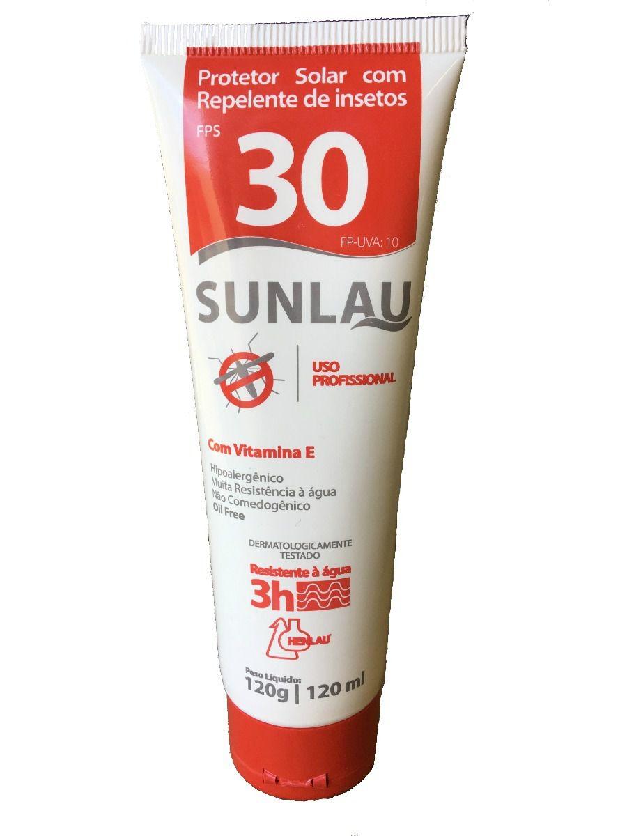 Protetor Solar FPS 30 C/Repelente 120g