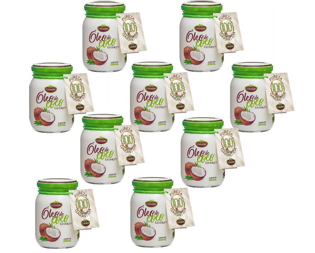 Kit 9 unidades óleo de coco extravirgem 500 mL - Cocoeste